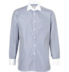 Turnball & Asser Contrast Collar and Cuff Stripe Shirt $295