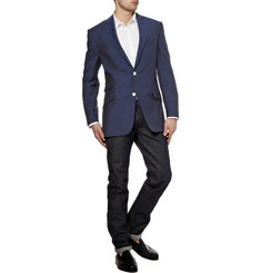 Richard James Single-Breasted Notch Lapel Mohair Blazer 590